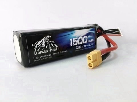 Leopard Power 1500mAh 75C 4S 14.8V LiPo battery