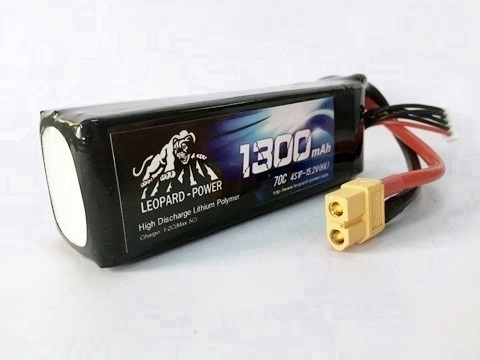 Leopard Power 1300mAh 70C 4S 15.2V  HV LiPo battery