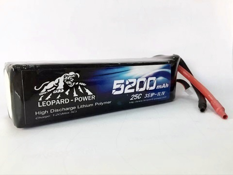 Leopard Power 5200mAh 25C 3S 11.1V LiPo battery