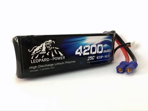 Leopard Power 4200mAh 25C 4S 14.8V LiPo battery