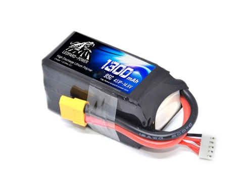 Leopard Power 1300mAh 95C 4S LiPo battery