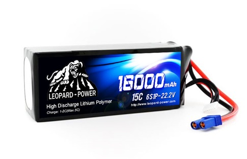 Leopard Power 16000mAh 15C 6S 22.2V LiPo battery