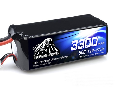 Leopard Power 3300mAh 50C 6S 22.2V LiPo battery