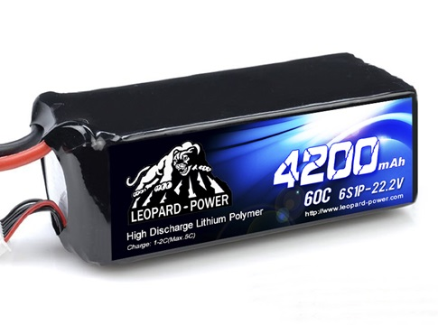 Leopard Power 4200mAh 60C 6S 22.2V LiPo battery