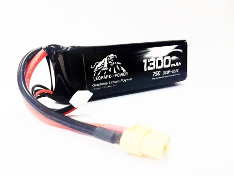 Leopard Power 1300mAh 75C 3S Graphene bat