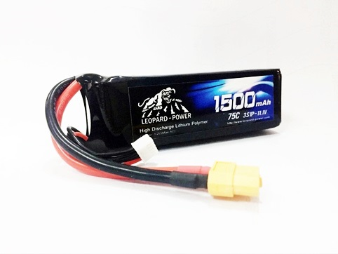 Leopard Power 1500mAh 75C 3S LiPo battery