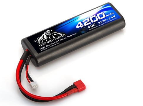 Leopard Power hard case Rounded 4000mAh 40C 2S2P 7.4V LiPo